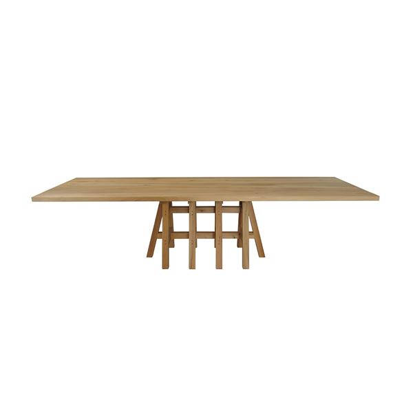 Pilat en Pilat Pakesytse tafel rechthoek houten poot hout blad