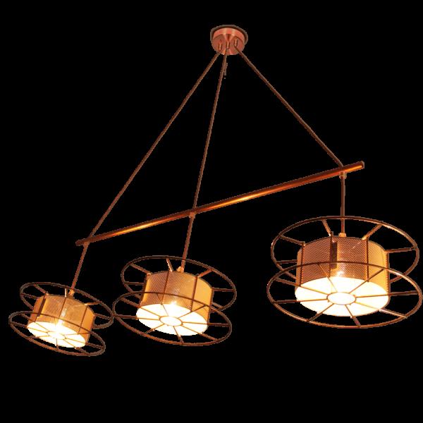 No waste hanglamp gemaakt van afvalmaterialen