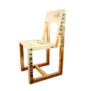 studio hamerhaai bull stoel hout verpakking gerecycled upcycling