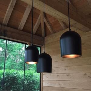more circular zwart plafondlamp archy circulair hergebruik verlichting
